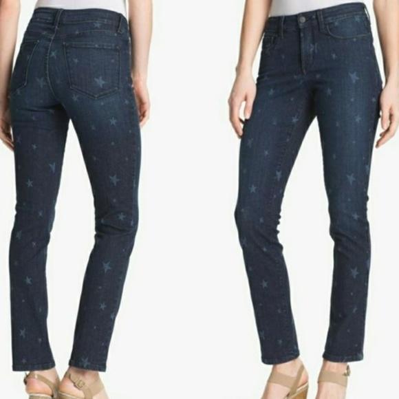 NYDJ Denim - NYDJ Star Print Ankle Cut Skinny Jeans Size 4
